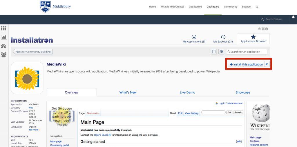 media wiki install.001