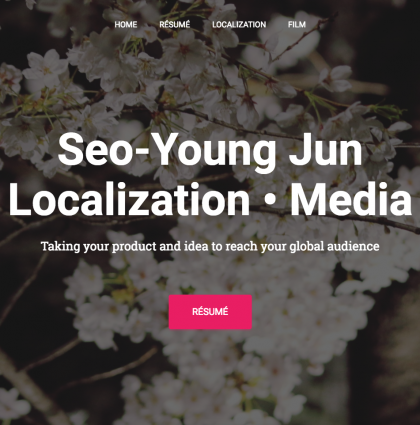 Seo-Young's Professional Website