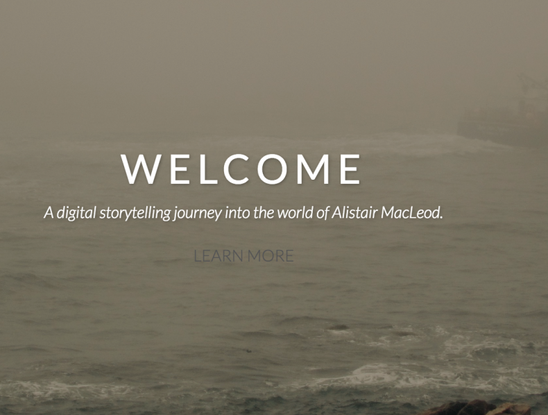 The Stories of Alistair MacLeod: Senior Thesis Project