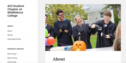 ACS Student Chapter at Middlebury College